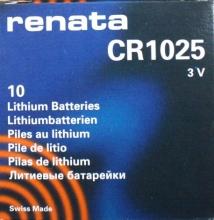 Caja 10 Pilas 1025 Renata (Para Pulsar)