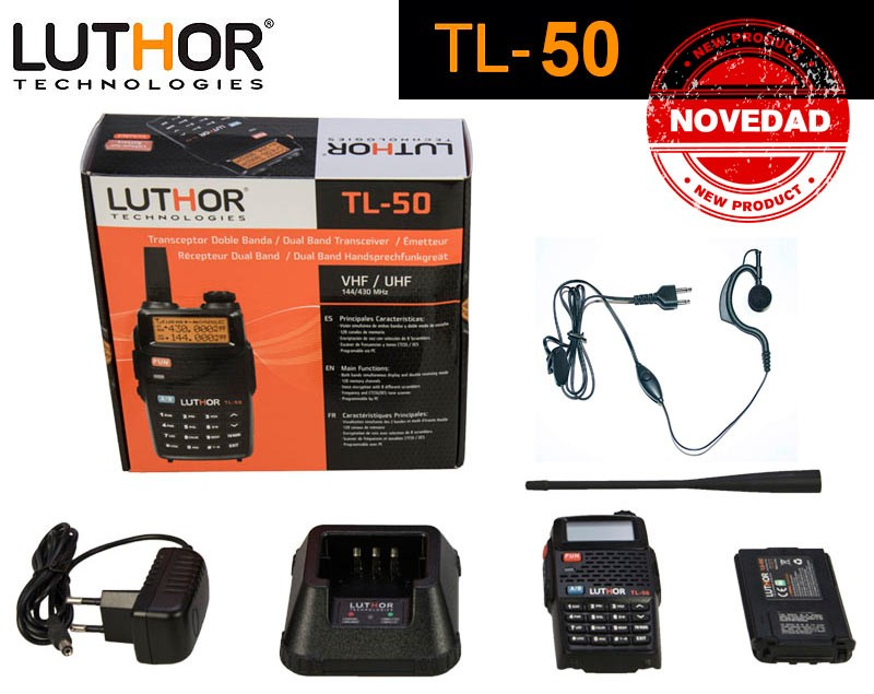 LUTHOR TL-50 Walkie Doble Banda